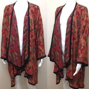Vintage Tribal Print Kimono